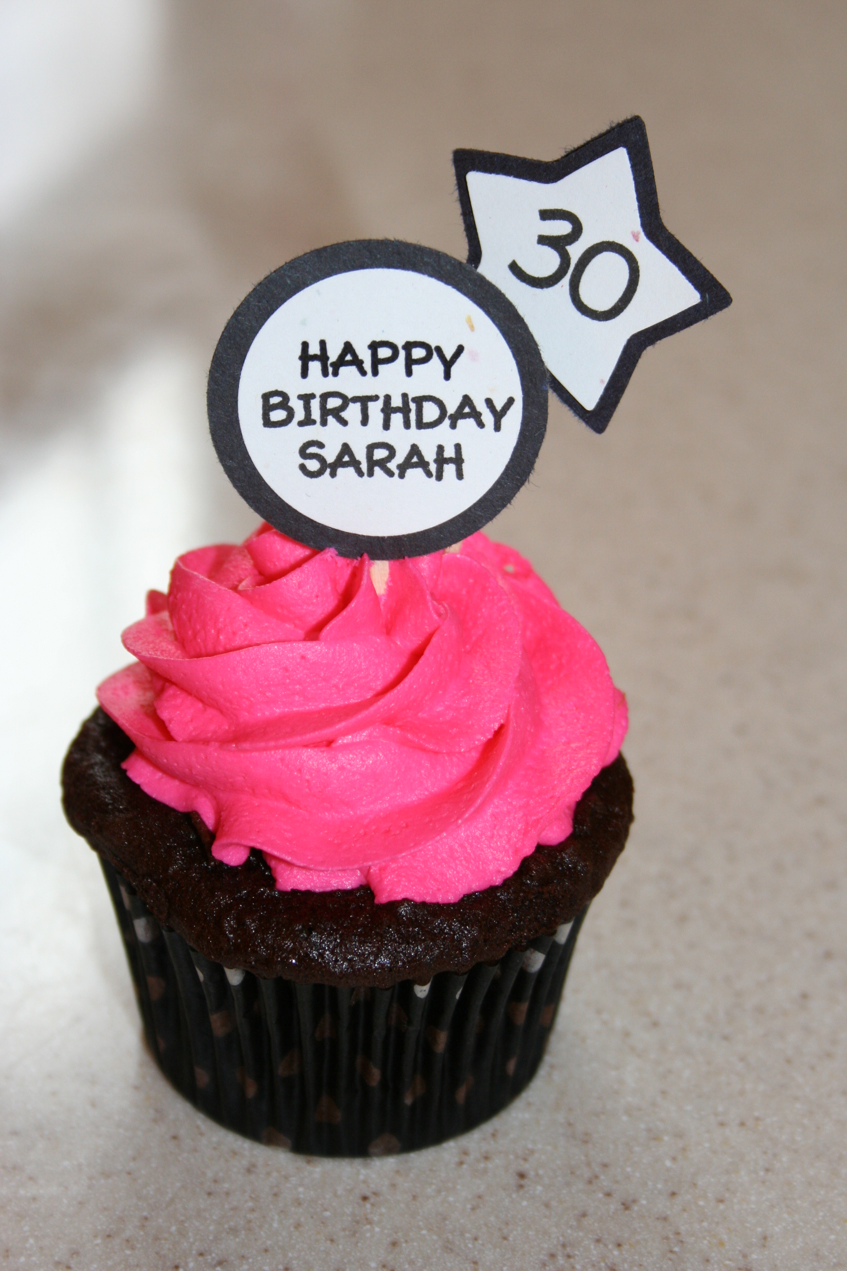 Happy 30th Birthday Sarah The Perkiomen Cupcake Company